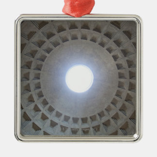 Pantheon  ceiling, low angle wide angle view Silver-Colored square decoration