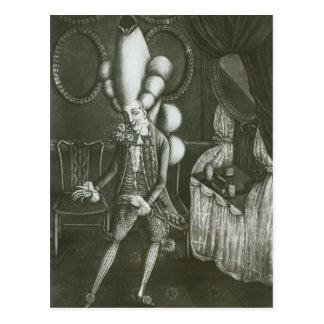 Pantheon Macaroni, 1773 Postcard