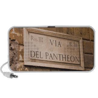 Pantheon sign, Rome, Italy 2 Mp3 Speaker