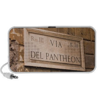 Pantheon sign, Rome, Italy 2 Travelling Speakers