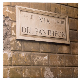Pantheon sign, Rome, Italy 2 Tile