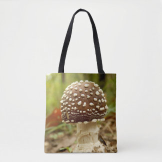 Panther Cap Mushroom All Over Print Bag