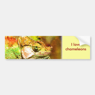 Panther chameleon Digital art Bumper Sticker