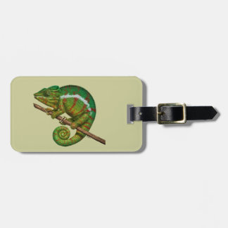Panther Chameleon Digital Painting Luggage Tag