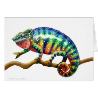 Panther Chameleon Lizard Card