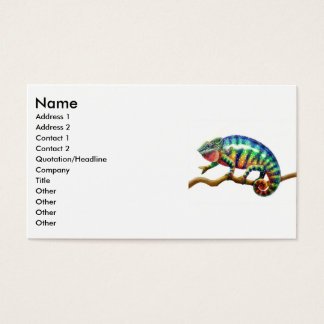Panther Chameleon Lizard, Name, Address 1, Addr... Business Card