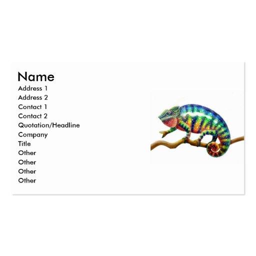 Panther Chameleon Lizard, Name, Address 1, Addr... Business Card Templates