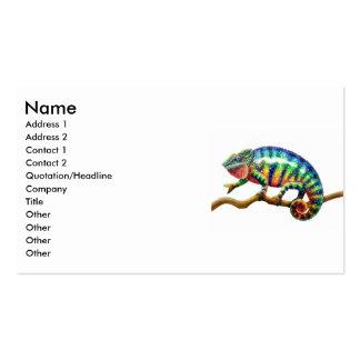 Panther Chameleon Lizard, Name, Address 1, Addr... Pack Of Standard Business Cards