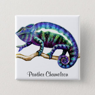 Panther Chameleon Pin
