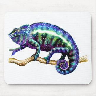 Panther Chameleon Showing his True Colors Mouse Mat