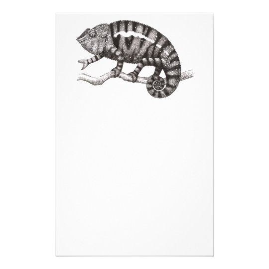 Panther Chameleon Study Stationery