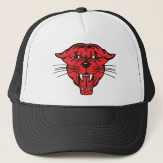 PANTHER FACE, red 01 Trucker Hat