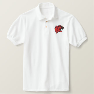 Panther Head Sports Mascot Embroidered Shirt