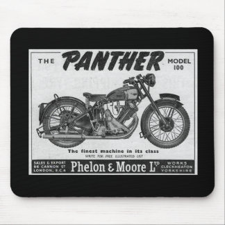 panther motorcycle advert mouse mat