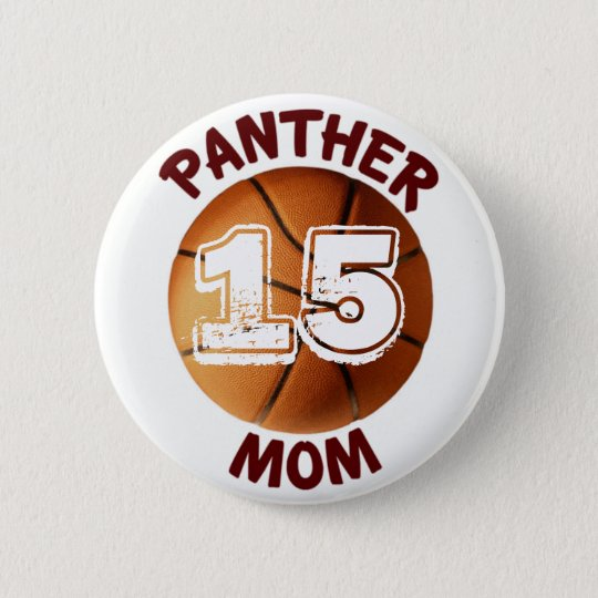Panther Mum Basketball Button