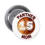 Panther Mum Basketball Button