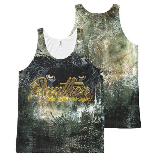 """Panther on the Prowl"" All-Over Print Tank Top"