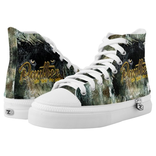 """""""Panther on the Prowl"""" High Tops"""