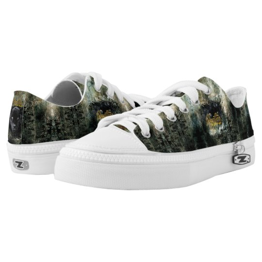"""""""Panther on the Prowl"""" Low Tops"""