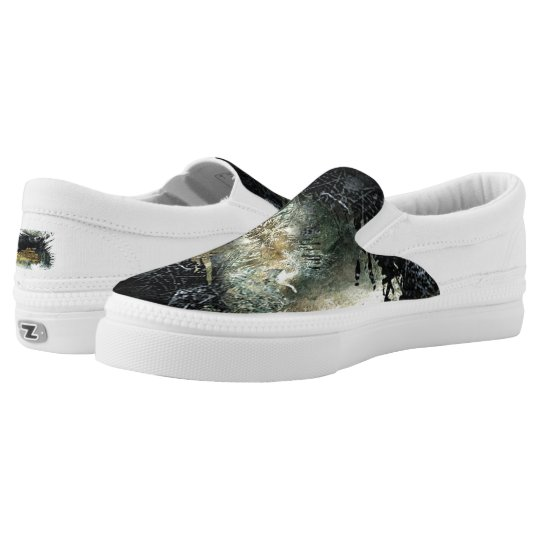 """""""Panther on the Prowl"""" Slip On Shoes"""