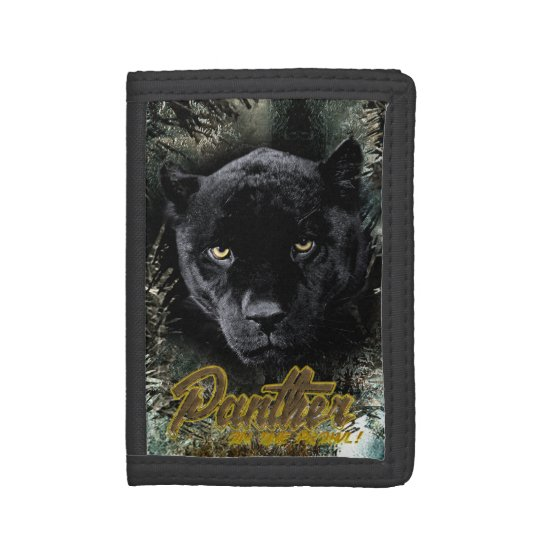"""""""Panther on the Prowl"""" Tri-fold Wallet"""