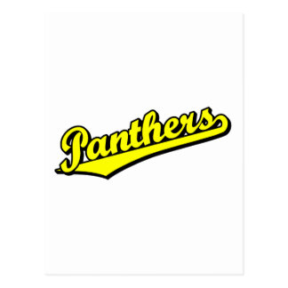 Panthers in Yellow Post Cards