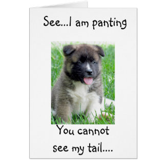PANTING & TAIL WAGGING PUP IN LOVE! GREETING CARD