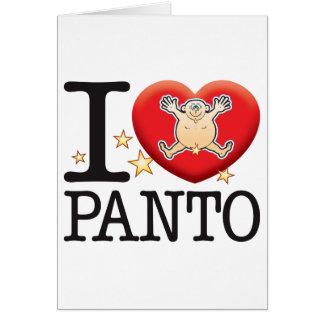 Panto Love Man Greeting Card