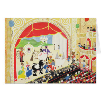 Pantomime Greeting Card
