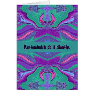 pantomime humor greeting card