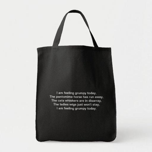 Pantomime. Poem. Black White Tote Bag