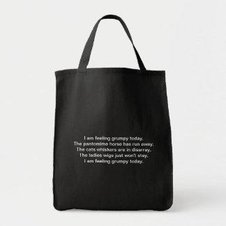Pantomime. Poem. Black White Grocery Tote Bag