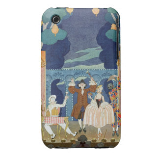 Pantomime Stage, illustration for 'Fetes Galantes' Case-Mate iPhone 3 Case