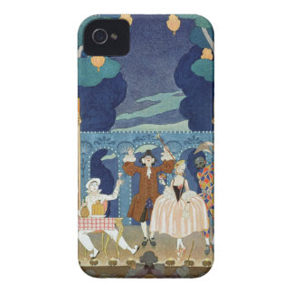Pantomime Stage, illustration for 'Fetes Galantes' Case-Mate iPhone 4 Cases