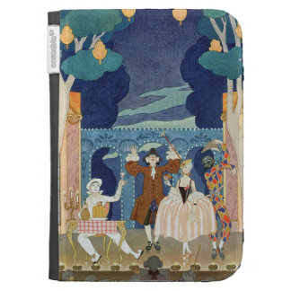 Pantomime Stage, illustration for 'Fetes Galantes' Kindle Keyboard Cases