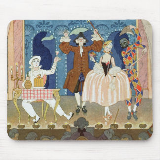 Pantomime Stage, illustration for 'Fetes Galantes' Mouse Pad