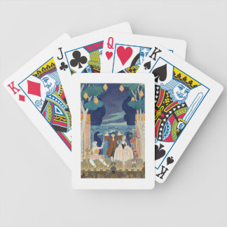 Pantomime Stage illustration for Fetes Galantes Playing Cards