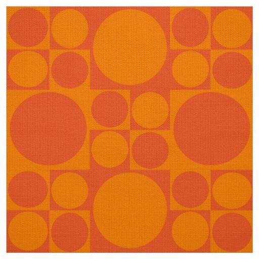 panton inspired orange fabric