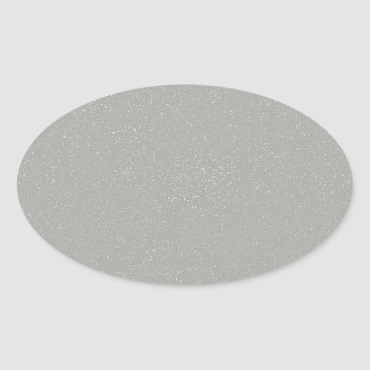 PANTONE Glacier Grey with faux fine Glitter Oval Sticker