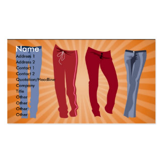 pants_100106_large, Name, Address 1, Address 2,... Pack Of Standard Business Cards