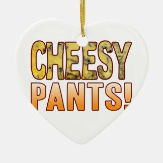 Pants Blue Cheesy Ceramic Heart Decoration