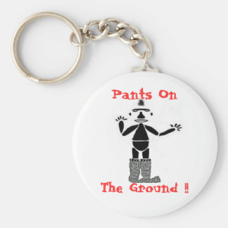 Pants On The Ground !! Basic Round Button Key Ring