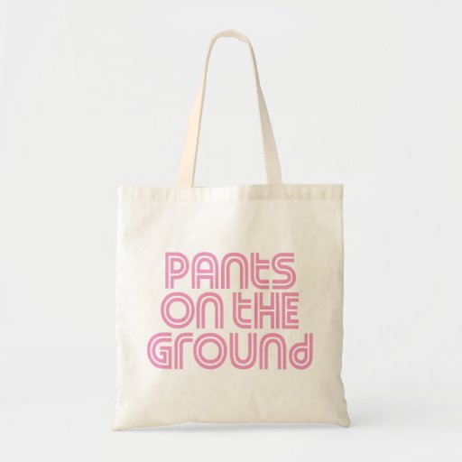 Pants on the Ground Pink Canvas Bags