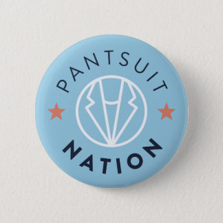 Pantsuit Nation Button, Light Blue 6 Cm Round Badge