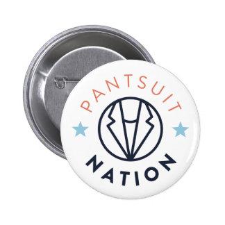 Pantsuit Nation Button, White 6 Cm Round Badge