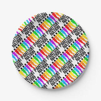 Pantsuit Nation Rainbow Women Paper Plate