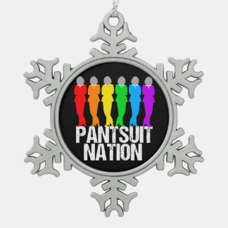 Pantsuit Nation Rainbow Women Pewter Snowflake Decoration