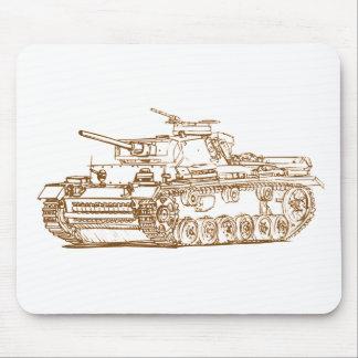 Panzer III tank Mouse Pad
