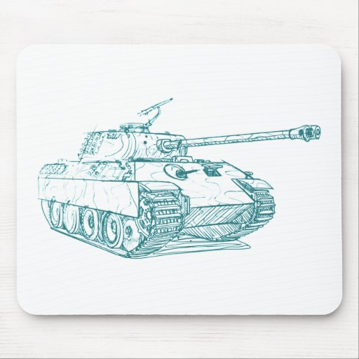 Panzer V Panther Tank Mouse Pad