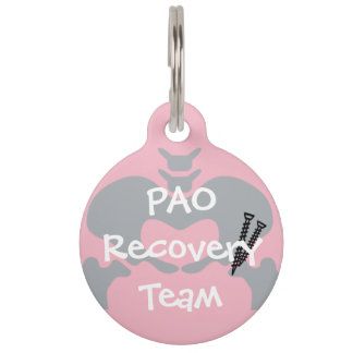 PAO Recovery Team Dog Tag with Customizable Name Pet ID Tag